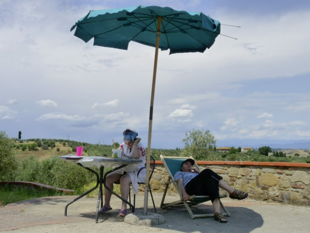 Franziska Fiedler und Heide Rumm, in der Nähe von Florenz, Toskana