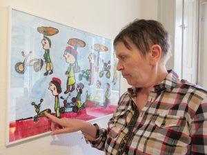 Inge Nold an ihrem Preisbild