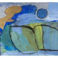 Engel liest vor, 2012, Acryl, Ölkreiden