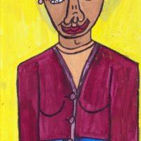 aus Serie: Frau Götz, 2014, Acryl
