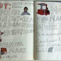 Buchseite...es spielten mit, 2012, Collage