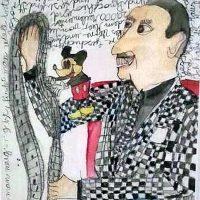 Walter Elias besser bekannt als Walt Disney, 2014, Graphit, Aquarell