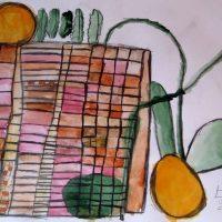 Das Hochbeet, 2015, Aquarell, Blei