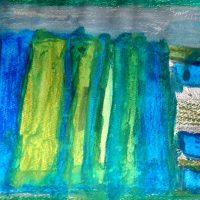 Aufzug, 2012, Wasserfarbe, Blei