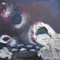 Dialog der Geister, 2016, Acryl, Collage