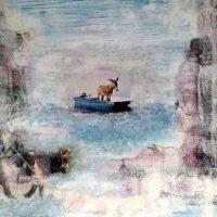 Vertrauen in die Überfahrt, 2015, Acryl, Collage