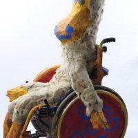 Nilpferd, Rollstuhl besetzt