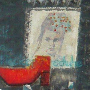 Kli-Kla-Klackerschuh, 2016, Collage