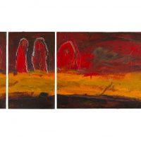 Auf dem Weg, Acryl, 3 Holztafeln, 2009