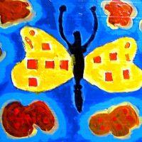 Schmetterlingsmann, 2013, Acryl
